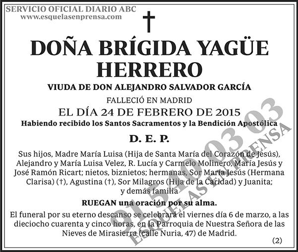 Brígida Yagüe Herrero